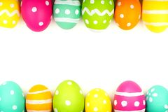 Easter egg double edge border Stock Image