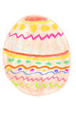 Easter egg drawing Stock Photography