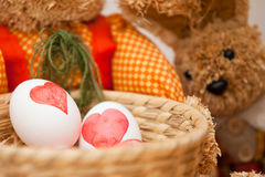 Easter Egg Dyeing Stock Photos