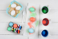Easter Egg Dying Royalty Free Stock Image