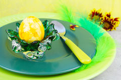 Easter egg, easter breakfast Stock Images
