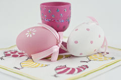 Easter egg and egg cup Royalty Free Stock Photo