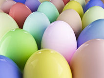 Easter egg and eggs background. Easter chocolate egg with eggs background Royalty Free Stock Images