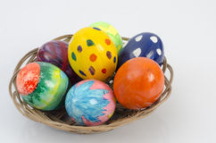 Easter egg. S white background and colored eggs Stock Photography