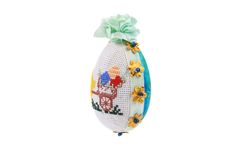 Easter egg with embroidery. Royalty Free Stock Images