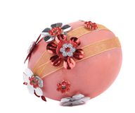 Easter egg with embroidery. Royalty Free Stock Image