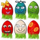 Easter egg emotions Stock Image