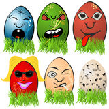 Easter egg emotions 3 Royalty Free Stock Photography