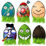 Easter egg emotions 4 Royalty Free Stock Images