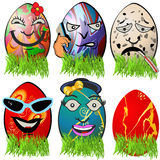 Easter egg emotions 5 Stock Photo