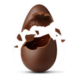 Easter egg exploded. On a white background Royalty Free Stock Photo