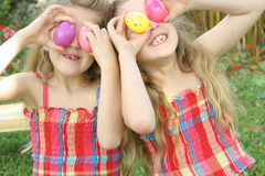 Easter egg eye children Royalty Free Stock Photos