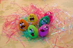 Easter egg faces Royalty Free Stock Photography