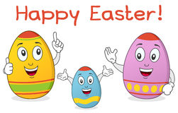Easter Egg Family Characters. A funny colorful Easter egg family characters smiling. Eps file available Stock Image
