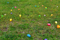 Easter Egg Field. Colorful Easter eggs populate a field Royalty Free Stock Photos
