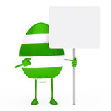 Easter egg figure Royalty Free Stock Images