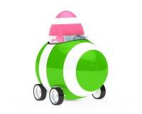 Easter egg figure. Pink easter egg figure sit in car Stock Image