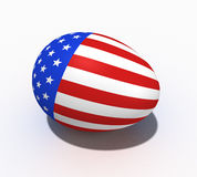 Easter egg with figure of a flag of USA Stock Photos