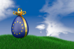 Easter egg with  flag Royalty Free Stock Photo