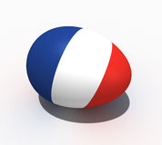 Easter egg - flag of France Royalty Free Stock Images