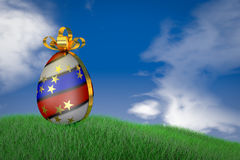 Easter egg with  flag Stock Photography