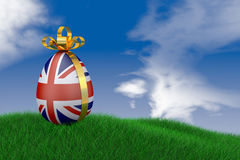 Easter egg with  flag Royalty Free Stock Image