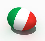 Easter egg - flag of  Italy Stock Images