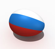 Easter egg - flag of Russia royalty free stock images