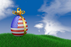 Easter egg with  flag Royalty Free Stock Images