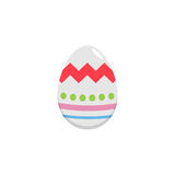 Easter egg flat icon, religion holiday elements. Egg with lines, a colorful linear pattern on a white background, eps 10 stock illustration
