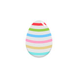 Easter egg flat icon, religion holiday elements,. Egg with lines, a colorful linear pattern on a white background, eps 10 stock illustration
