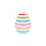 Easter egg flat icon, religion holiday elements, Stock Photos