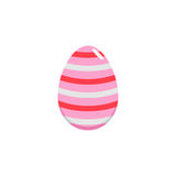 Easter egg flat icon, religion holiday elements,. Egg with lines, a colorful solid pattern on a white background, eps 10 vector illustration