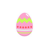 Easter egg flat icon, religion holiday elements. Egg with lines, a colorful solid pattern on a white background, eps 10 royalty free illustration