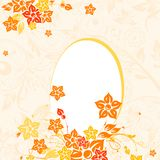 Easter egg with floral background,  Royalty Free Stock Photos