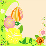 Easter Egg Floral Background 2. Vector Illustration of Easter Egg Floral Background 2 Stock Photos
