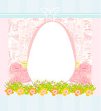 Easter Egg On floral Background Royalty Free Stock Photo