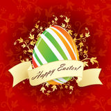 Easter Egg with Floral Decoration Stock Photo