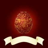 Easter Egg with Floral Decoration Royalty Free Stock Photography