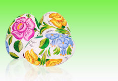 Easter egg with floral decoration Stock Images