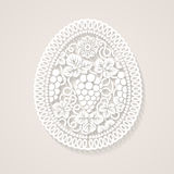 Easter egg with floral decoration Royalty Free Stock Photos