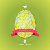 Easter egg with floral element Royalty Free Stock Photo