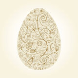 Easter egg with floral elements Stock Photo