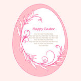 Easter egg with floral elements Royalty Free Stock Photo