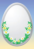 Easter egg with floral elements Royalty Free Stock Photos