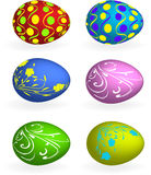 Easter egg with floral elements Royalty Free Stock Image