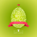 Easter egg with floral elements. Royalty Free Stock Photos