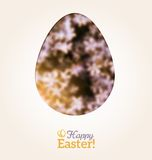 Easter Egg in Floral Minimalism Style Stock Image
