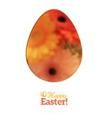 Easter Egg in Floral Minimalism Style Stock Images
