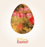 Easter Egg in Floral Minimalism Style Royalty Free Stock Image